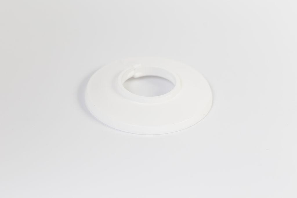 Csőrózsa PVC 18mm fehér 1db/Cs