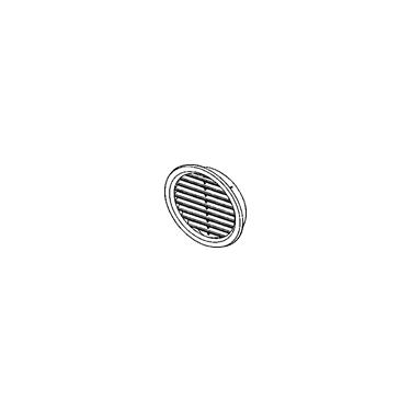 HACO kör szellőző 75-ös barna