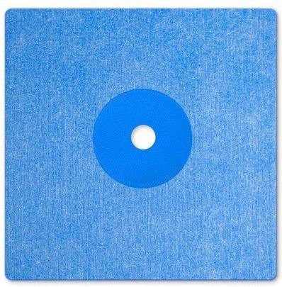 Csőszigetelő mandzsetta kék színű 120x120mm, O 12mm, vastagság 0,6mm