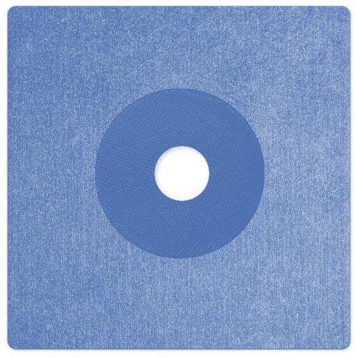 Csőszigetelő mandzsetta kék színű 150x150mm, O 25mm, vastagság 0,6mm