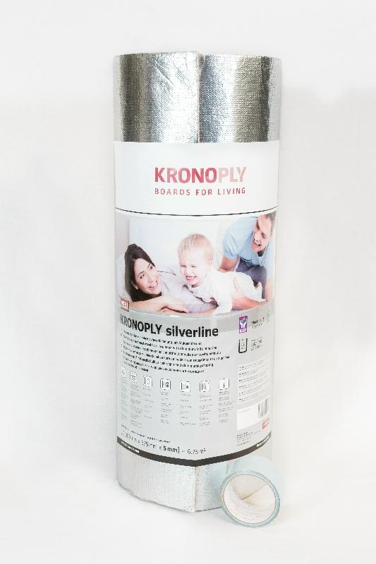 KRONOTEX SILVERLINE farost padlóalátét párazáróval 5mm; 6,75m2/tek. MEGSZŰNŐ