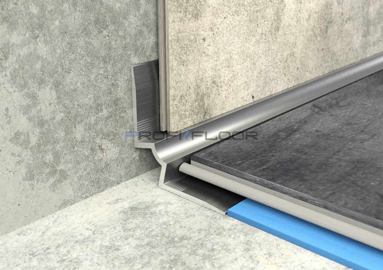 ALU PROFIL PF LVT1 ProfiFloor 2,7m ezüst öntapadós belső sarokprofil - 25x25x5mm