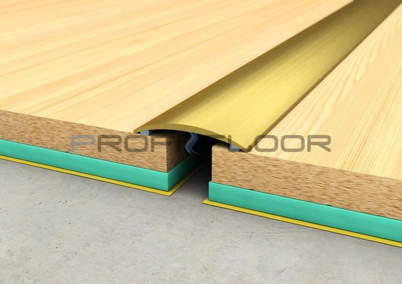 ALU PROFIL PF1 ProfiFloor 2,7m arany öntapadós padlóprofil - 30mm