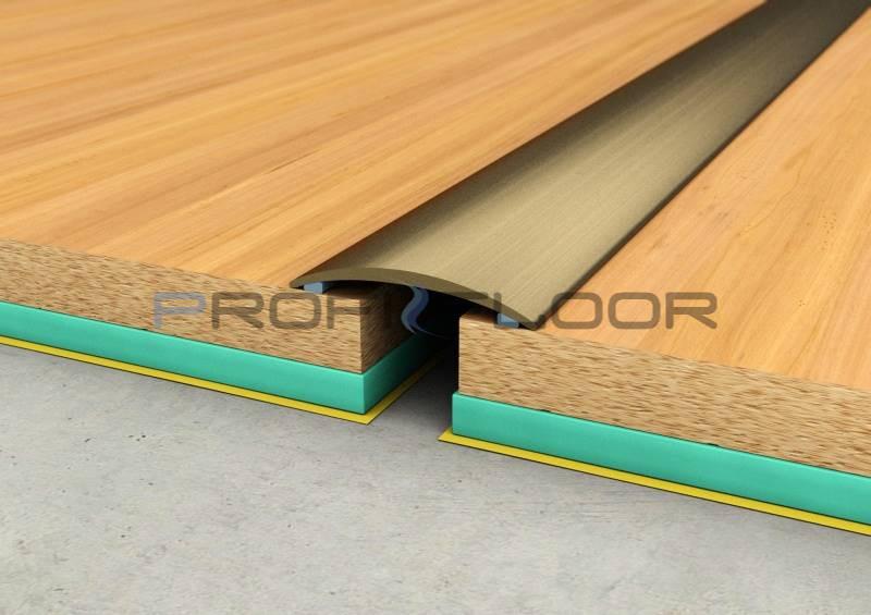 ALU PROFIL PF1 ProfiFloor 2,7m bronz öntapadós padlóprofil - 30mm