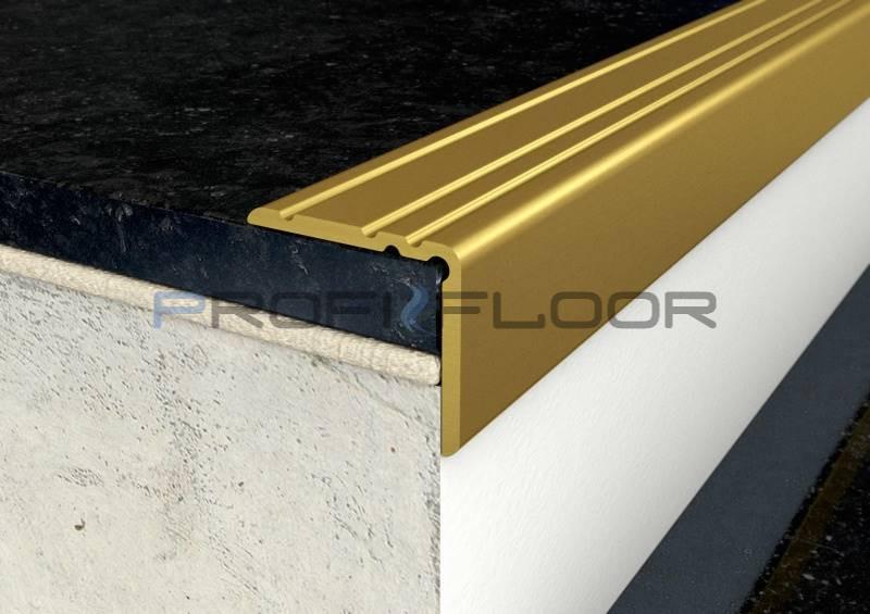 ALU PROFIL PF10 ProfiFloor 2,7m arany öntapadós padlóprofil - 25x20mm