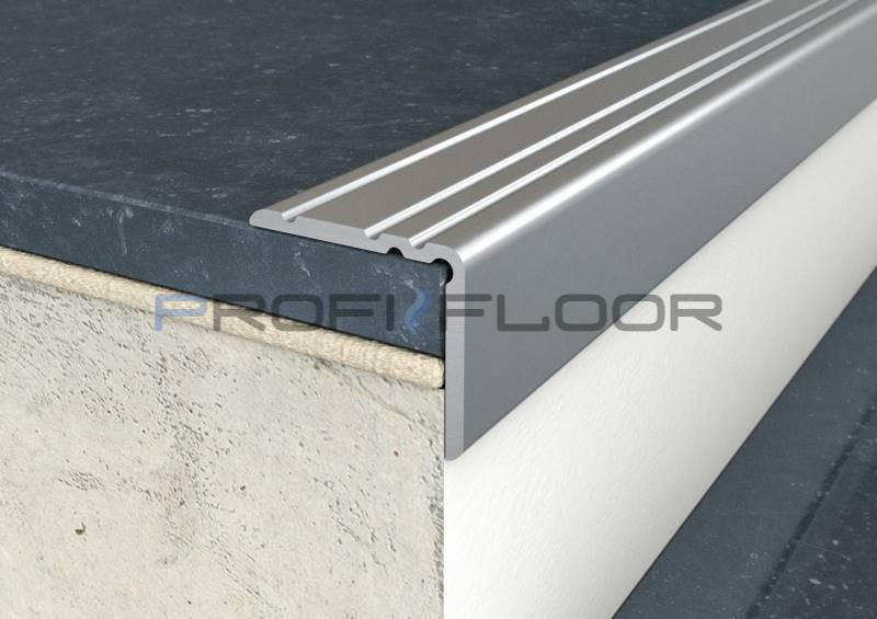 ALU PROFIL PF10 ProfiFloor 2,7m ezüst öntapadós padlóprofil - 25x20mm