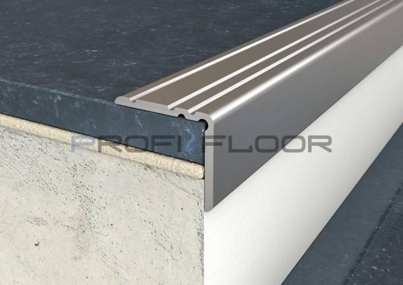 ALU PROFIL PF10 ProfiFloor 2,7m titán öntapadós padlóprofil - 25x20mm
