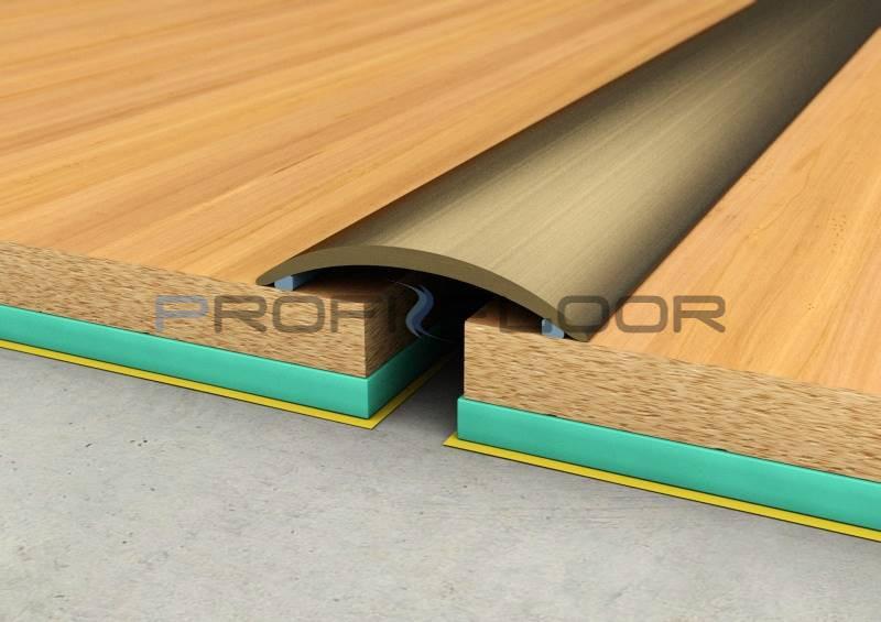 ALU PROFIL PF2 ProfiFloor 2,7m bronz öntapadós padlóprofil - 40mm