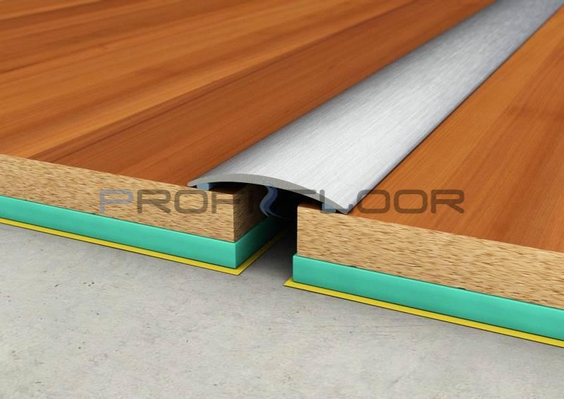 ACÉL padlóprofil PFA1 2,7m ProfiFloor öntapadós, szálcsiszolt - 30mm