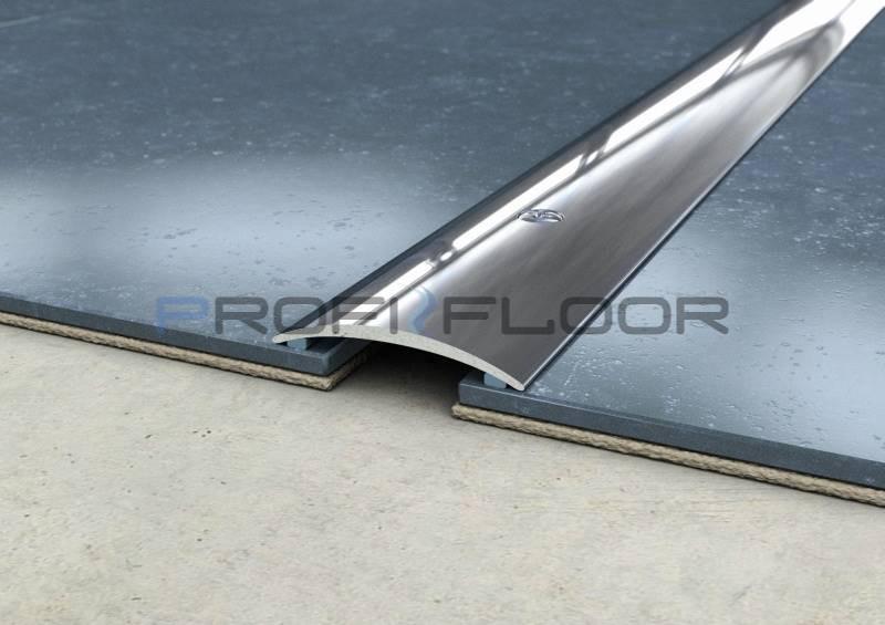 ACÉL padlóprofil PFA2 2,7m ProfiFloor lefúrható, fényes natúr - 30mm