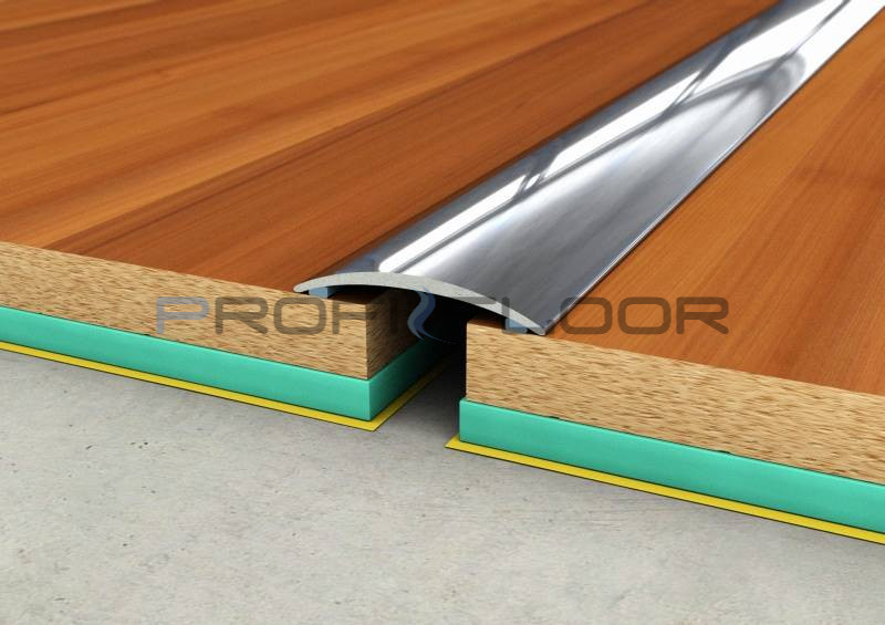 ACÉL padlóprofil PFA3 2,7m ProfiFloor öntapadós, fényes natúr - 40mm