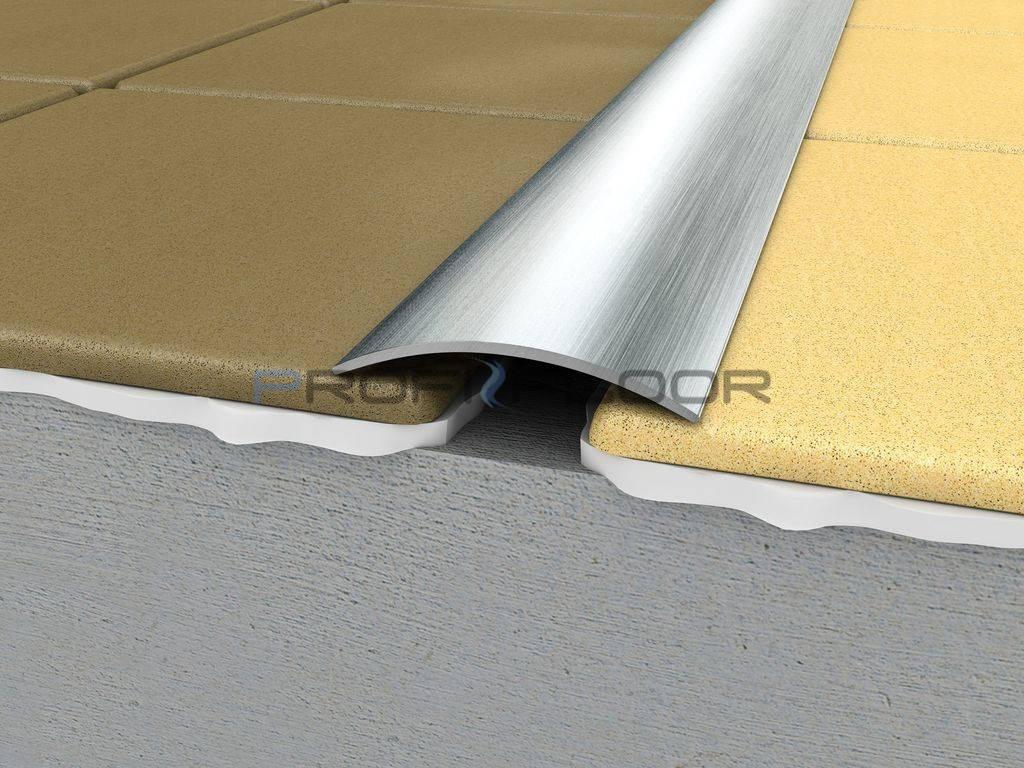ACÉL padlóprofil PFA3 2,7m ProfiFloor öntapadós, szálcsiszolt - 40mm