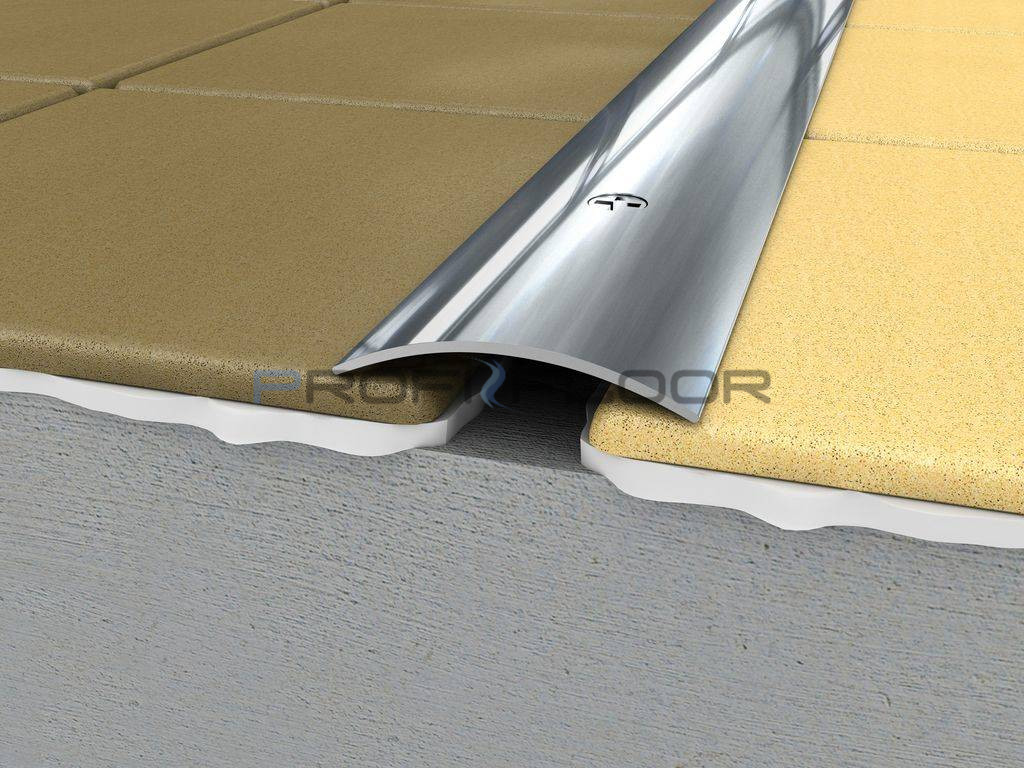 ACÉL padlóprofil PFA4 0,9m ProfiFloor lefúrható, fényes natúr - 40mm