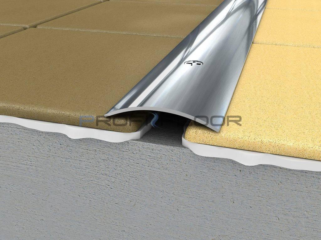 ACÉL padlóprofil PFA4 2,7m ProfiFloor lefúrható, fényes natúr - 40mm