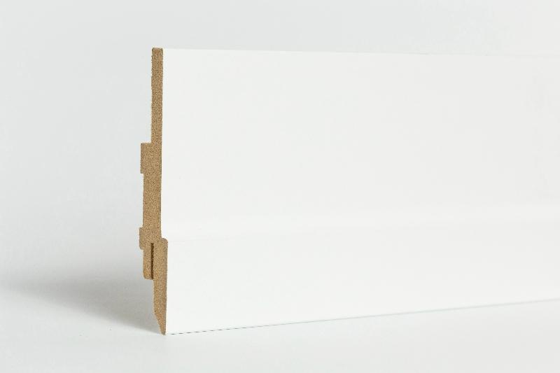 MDF fehér, festhető szegélyléc - PURE