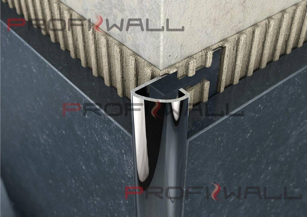 ACÉL C 10mm profil ProfiWall 2,5M rozsdamentes acél - fényes