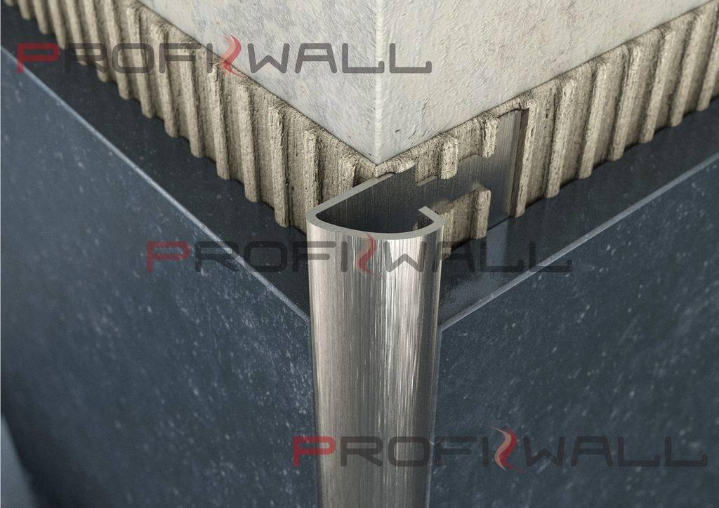ACÉL C 10mm profil ProfiWall 2,5M rozsdamentes szálcsiszolt acél