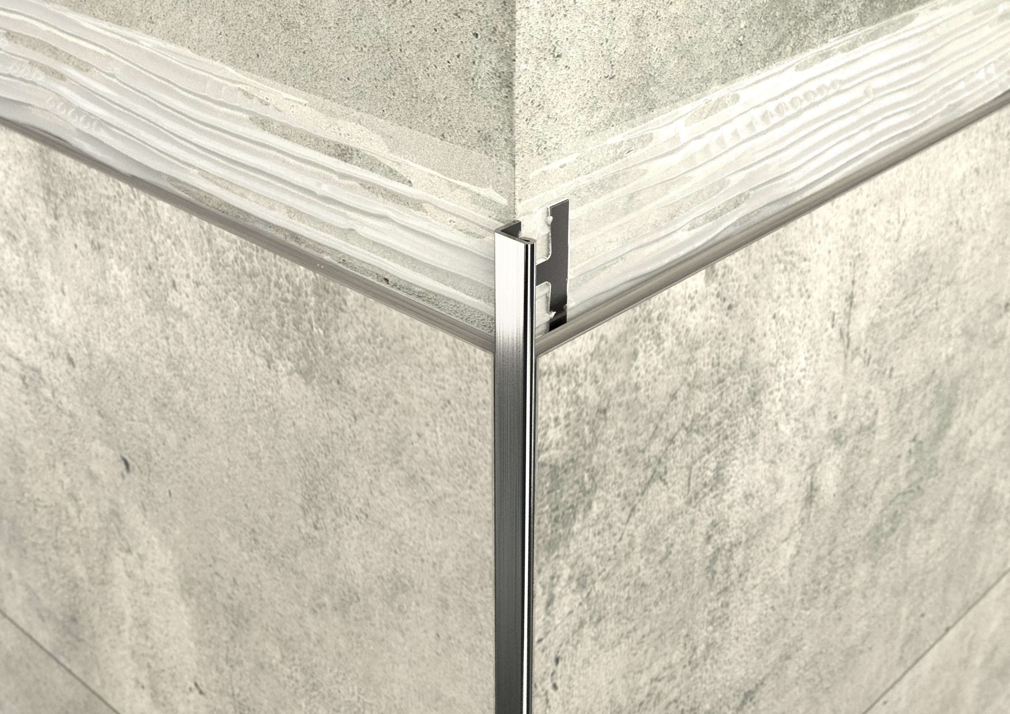 ACÉL L 4,5mm profil ProfiWall 2,5M rozsdamentes acél - fényes