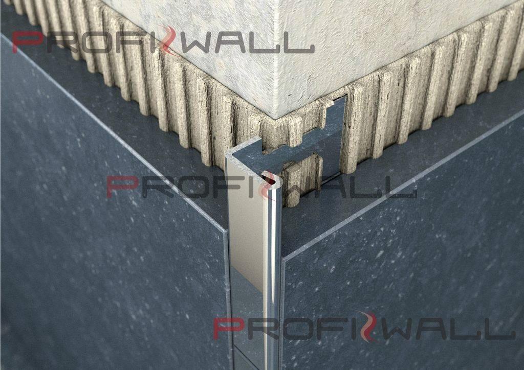 ACÉL L 8mm profil ProfiWall 2,5M rozsdamentes acél - fényes