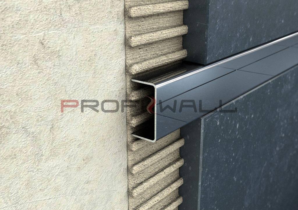 ACÉL listello 23mm profil magasfényű 2,44M ProfiWall