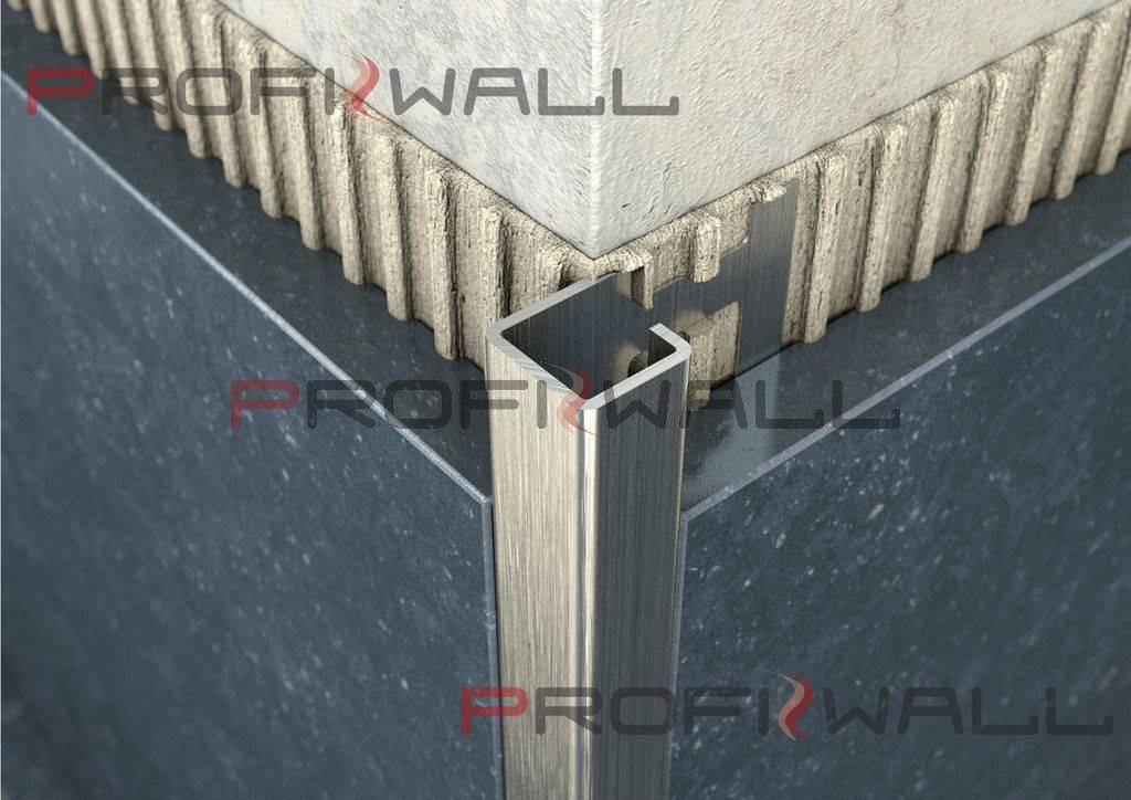 ACÉL NÉGYZET 10mm profil ProfiWall 2,5M rozsdamentes acél - szálcsiszolt