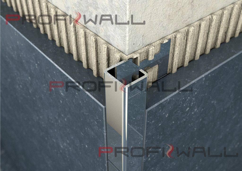 ACÉL NÉGYZET 8mm profil ProfiWall 2,5M rozsdamentes acél - fényes