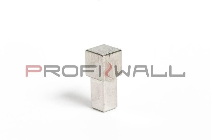 ACÉL SAROK 12,5mm ProfiWall rozsdamentes szálcsiszolt acél