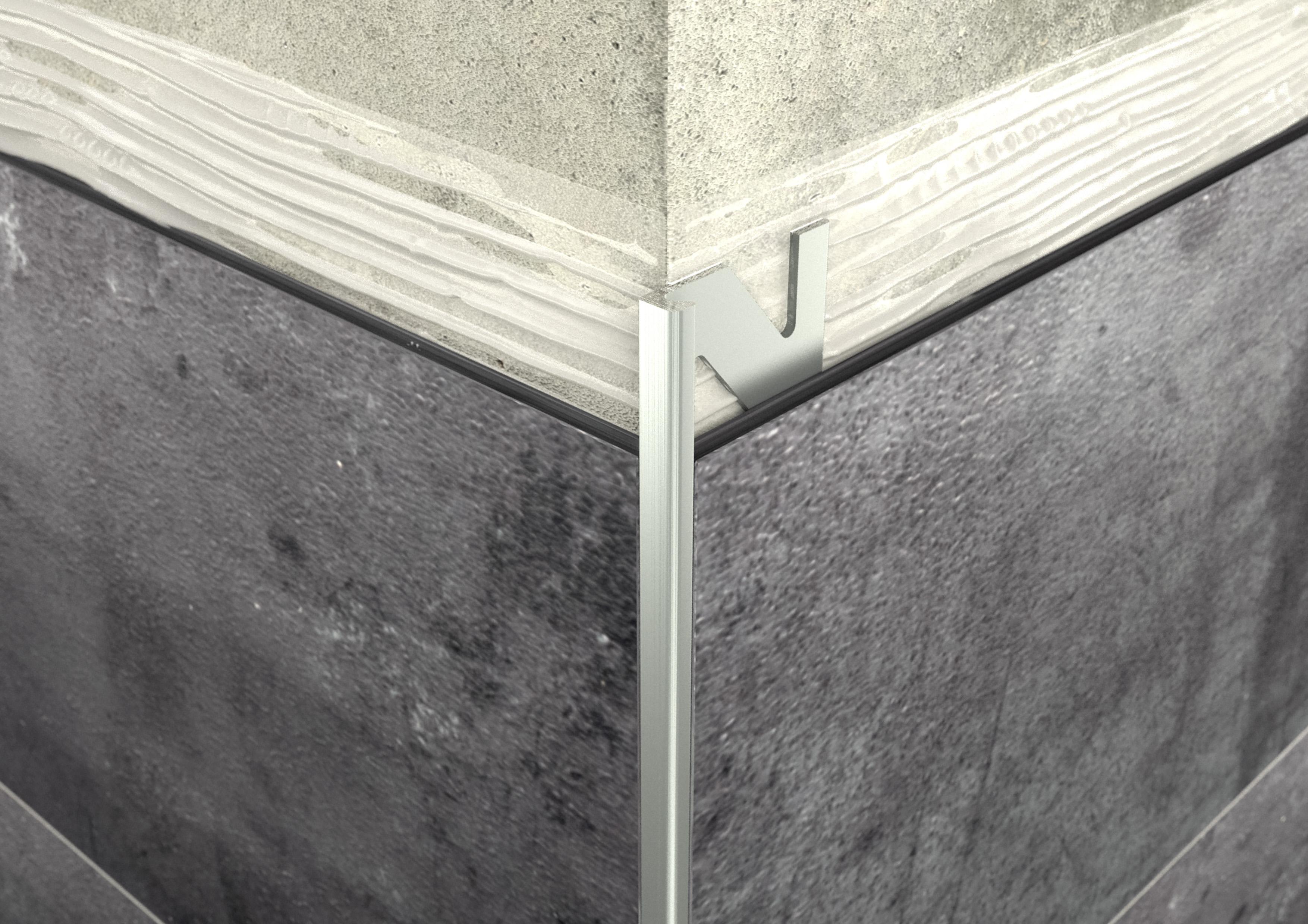 ALU L 3mm profil elox ezüst 2,5M ProfiWall
