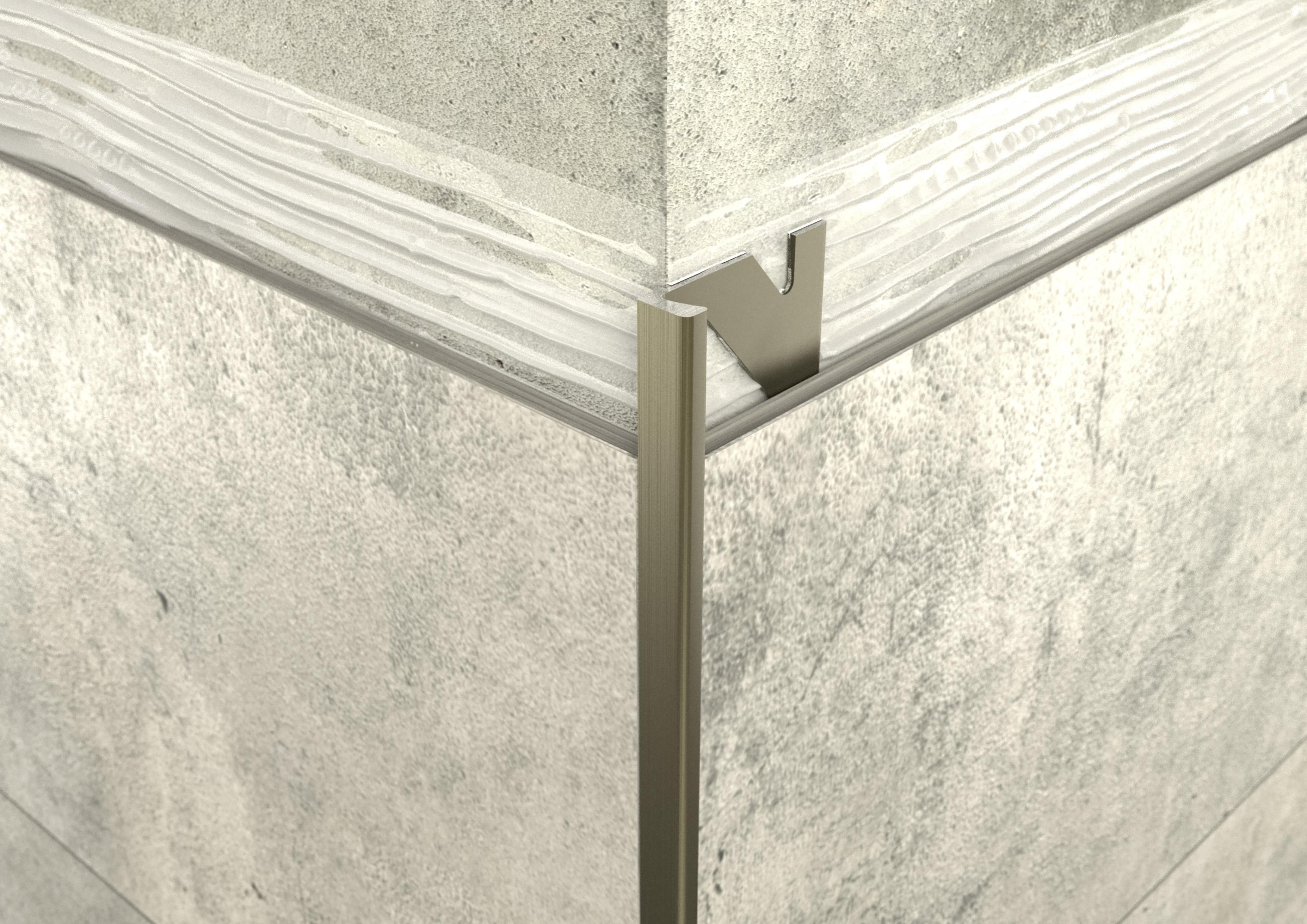 ALU L 4,5mm profil elox bronz 2,5M ProfiWall