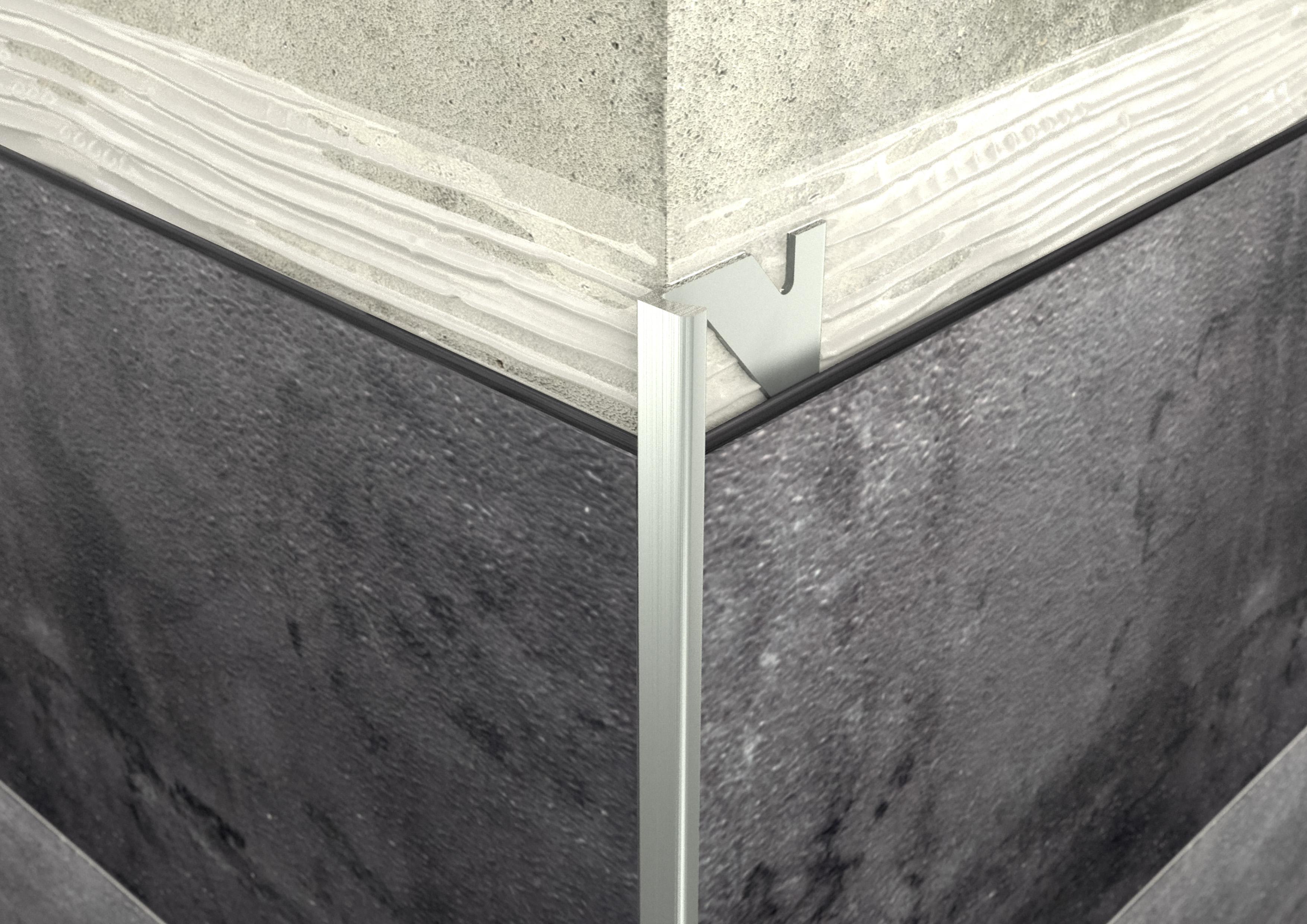 ALU L 4,5mm profil elox ezüst 2,5M ProfiWall